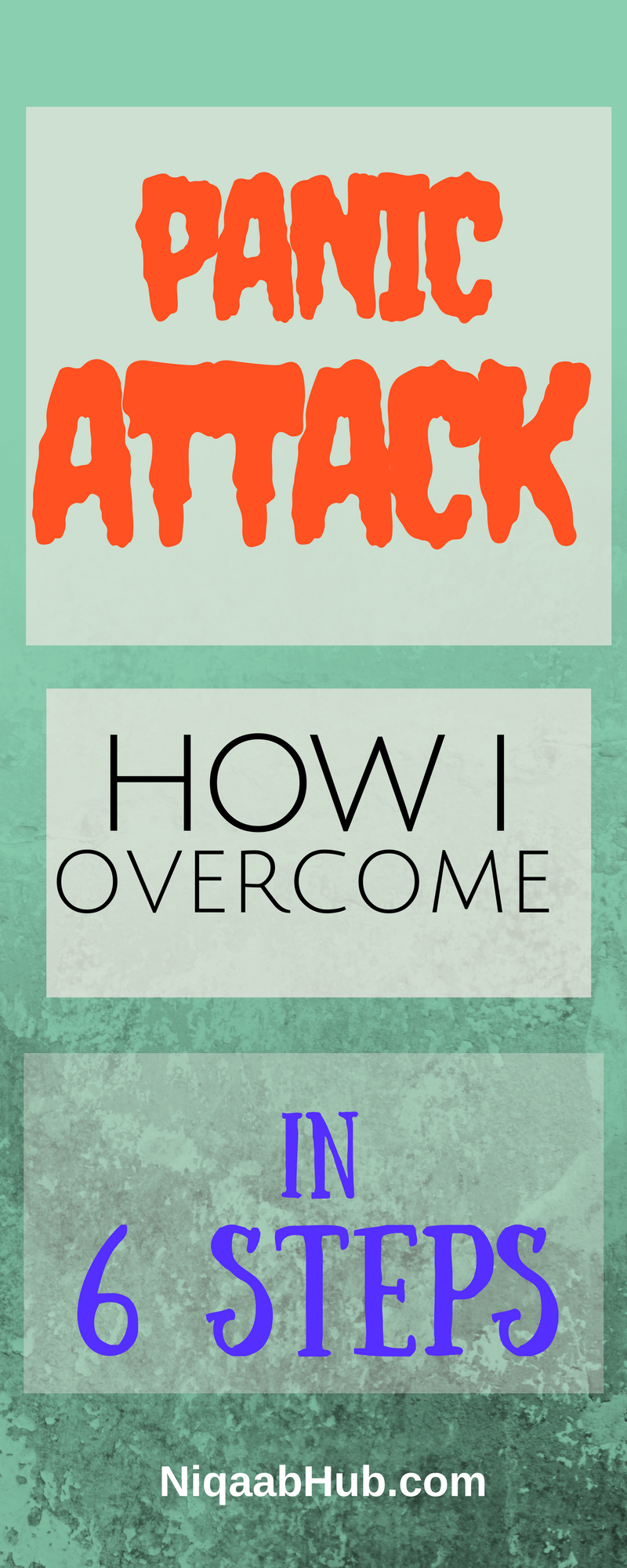 6 steps to overcome panic attack