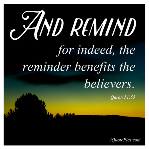 Remember Allah - The Remiinder Benefits The Believers